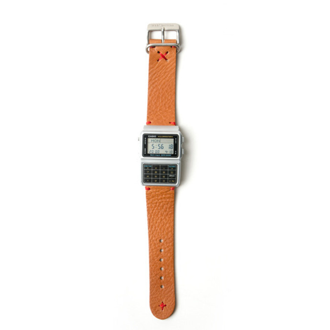 "M.F.G Datebank Leather Strap ""SILVER"""