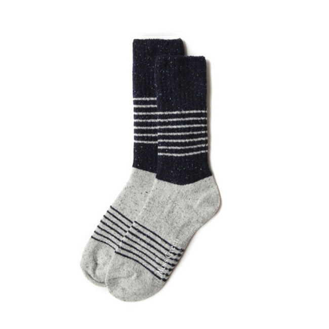 "Block Stripe Socks ""NAVY"""