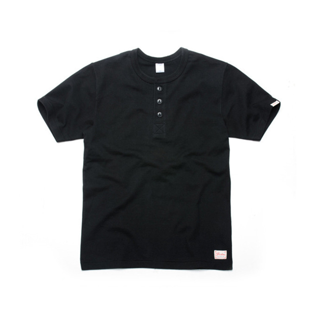 "Prestons Henley Neck ""BLACK"""
