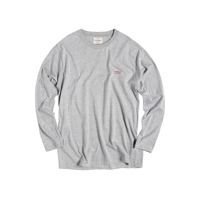 "Fragile Long-Sleeve Tee ""GRAY"""