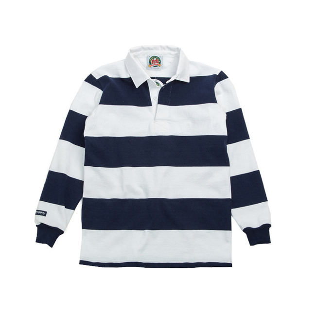 "12oz Classic Rugby Jerseys ""WHITE/NAVY"""