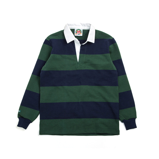 "12oz Classic Rugby Jerseys ""BOTTLE/NAVY"""