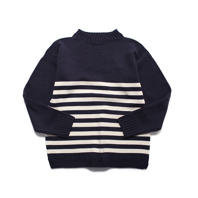 "Guernsey Sweater Stripe ""NAVY x WHITE"""