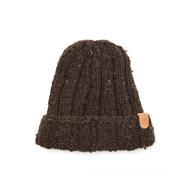 "Long Simple Hat ""BROWN"""