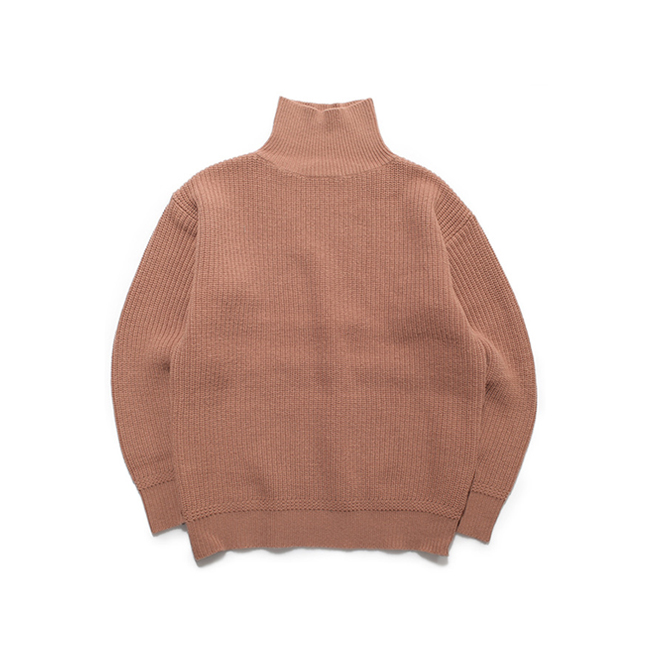 "High Neck Wool Sweater ""AMOND"""
