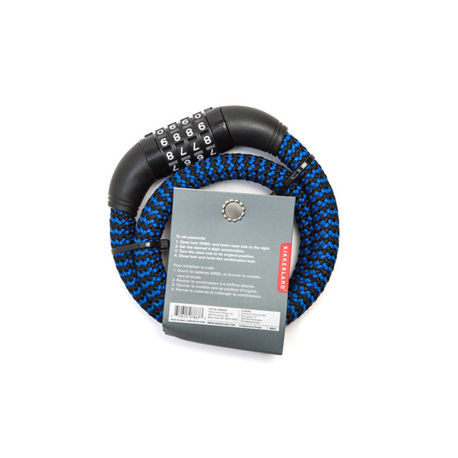 "Cotton Braided Cable Bike Lock ""BLUE"""