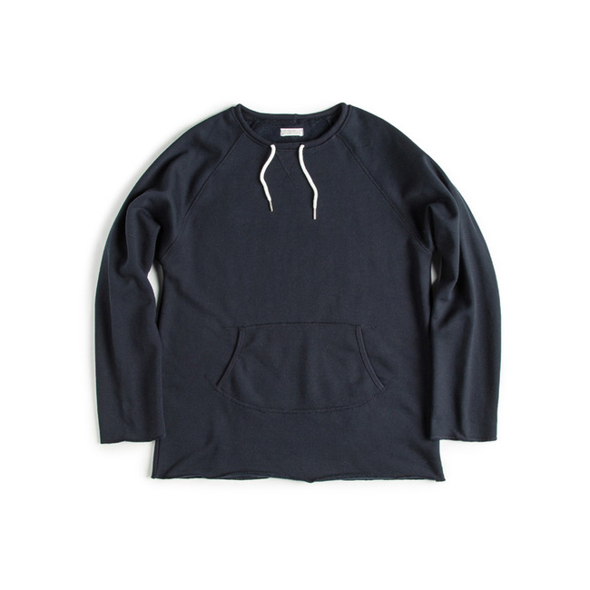 "Cut Shape Crew Sweat Shirt ""NAVY"""