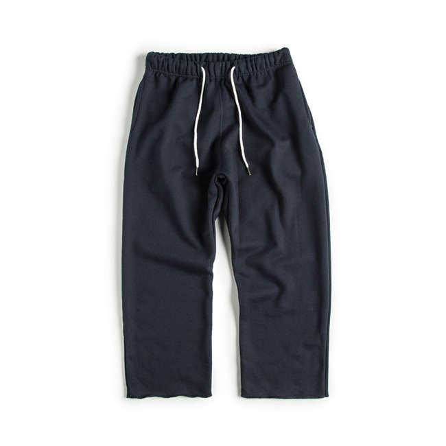 "Cut Shape Low Sweat Pants ""NAVY"""