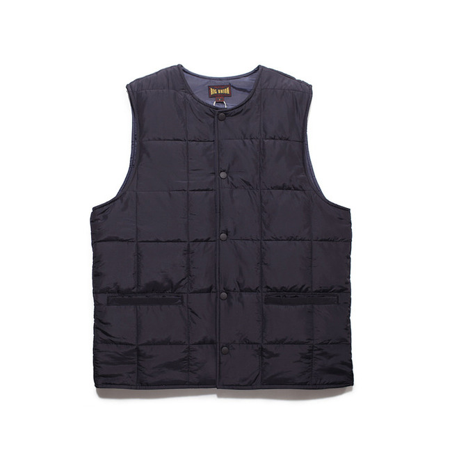 "Round Collar Paded Vest ""NAVY"""