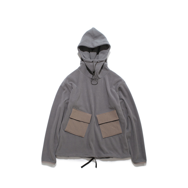 "Fleece Anorak ""N.GRAY"""
