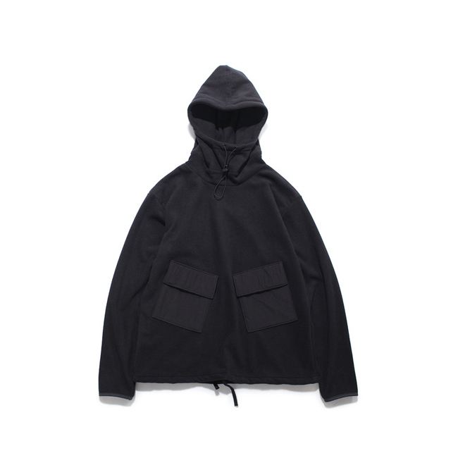 "Fleece Anorak ""BLACK"""