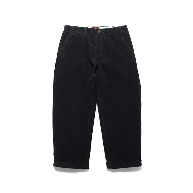 "Corduroy Cropped Pants ""BLACK"""