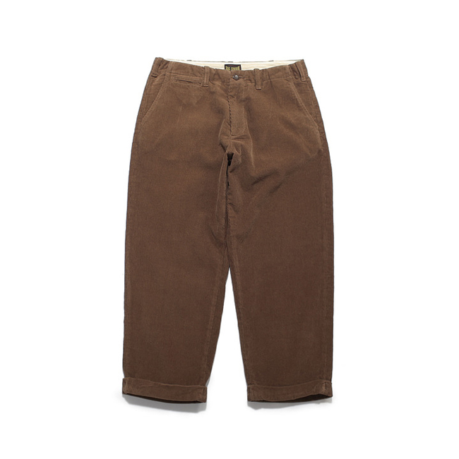 "Corduroy Cropped Pants ""BROWN"""