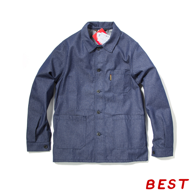 "Denim Twill Work Jacket ""INDIGO"" France work wear"