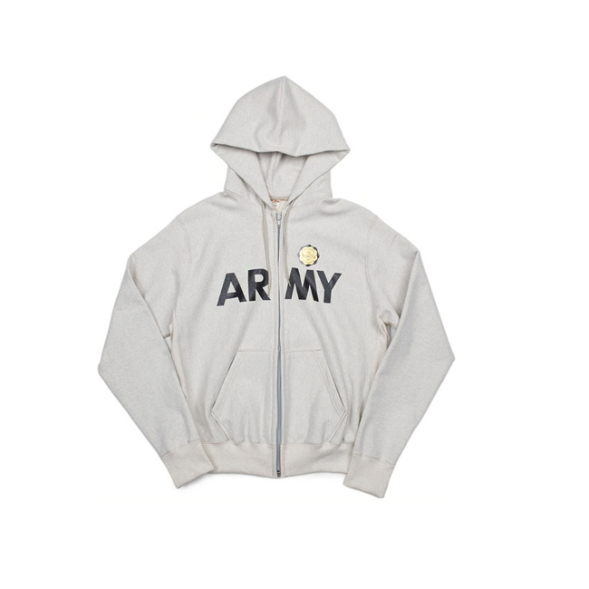 "ARMY Sweat Zip parka  ""OTMEAL MELANGE"""