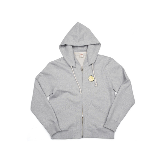 "Modified Sweat Zip Parka ""GREY MELANG"""