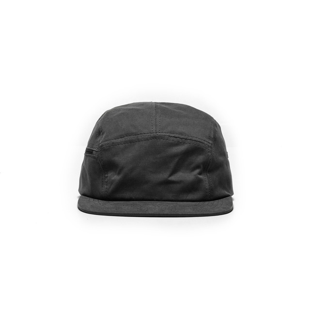 "Zipper Camp Cap ""BLACK"""