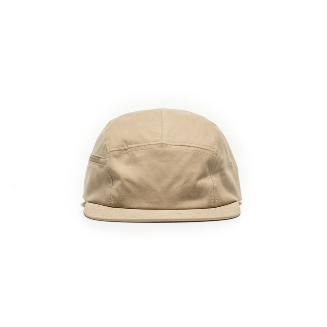 "Zipper Camp Cap ""BEIGE"""
