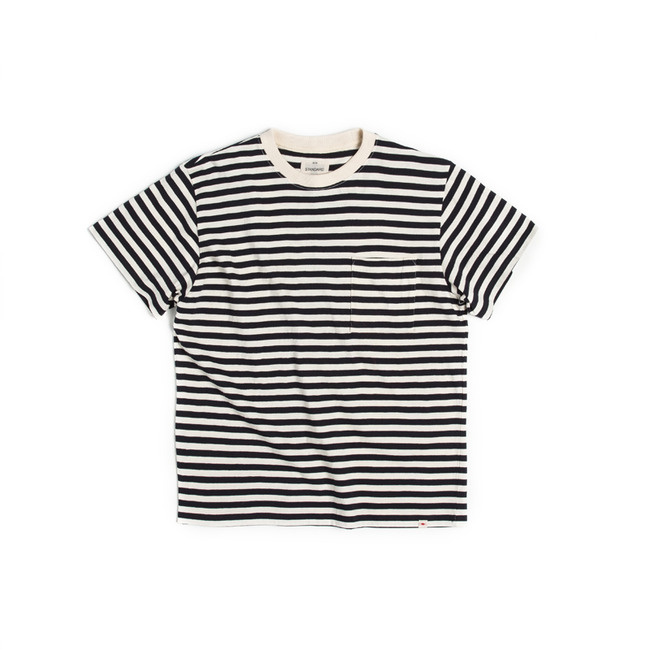 "Stripe Pocket T-Shirt ""NAVY"""