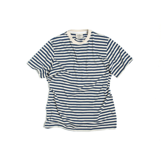"Stripe Pocket T-Shirt ""BLUE"""