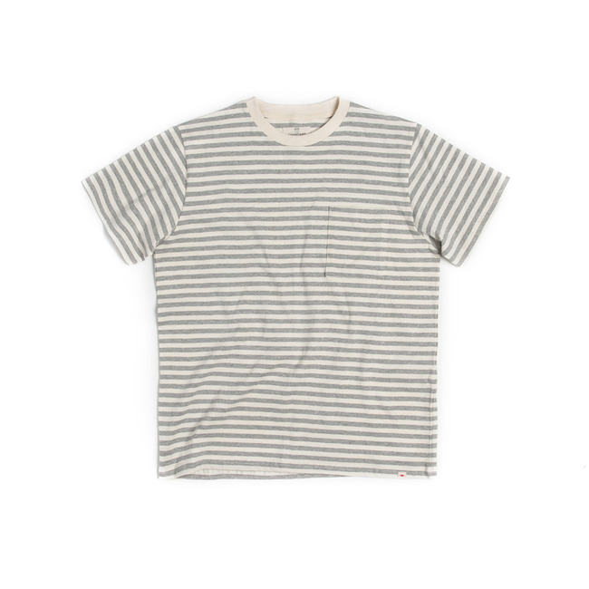 "Stripe Pocket T-Shirt ""GRAY"""