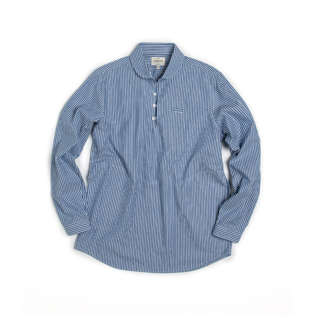 "Pencil Pocket Shirt ""STRIPE BLUE""  전사이즈 재입고"