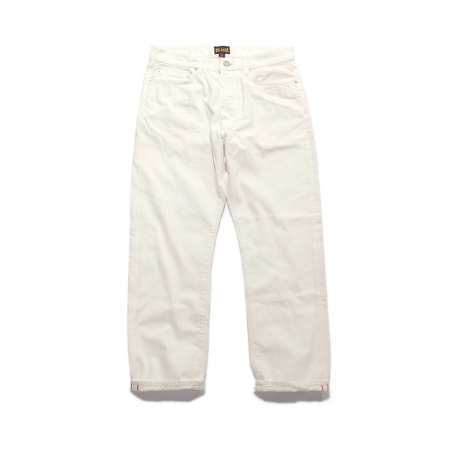 "13.5oz Japanese Selvedge Jean ""WHITE (Bio Wash)"""