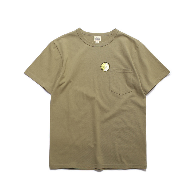 Crew-neck S/S Shirt Olive  FINAL SALE