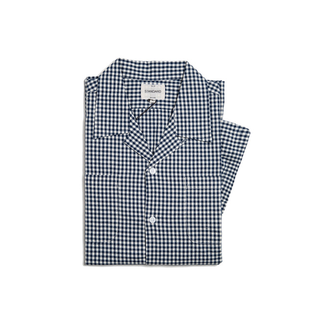 "Check Short Shirt ""NAVY"""