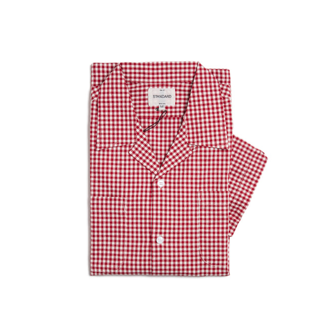 "Check Short Shirt ""RED"""