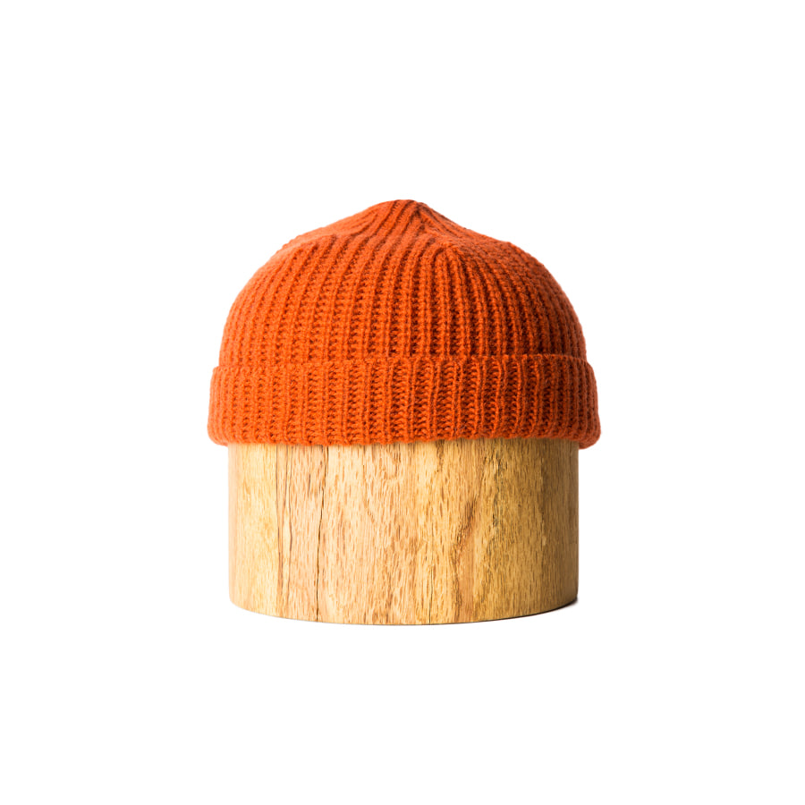 "Shetland Wool Beanie ""ORANGE"""