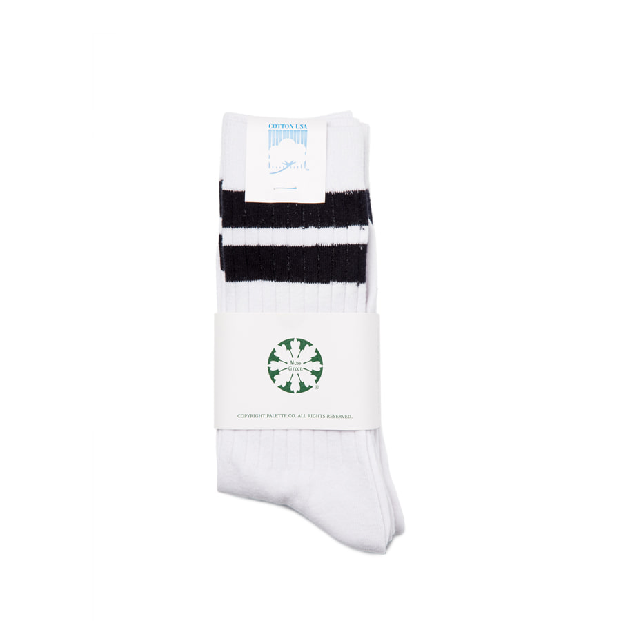 "Stripe Mid Socks 3Pcs""BLACK"""