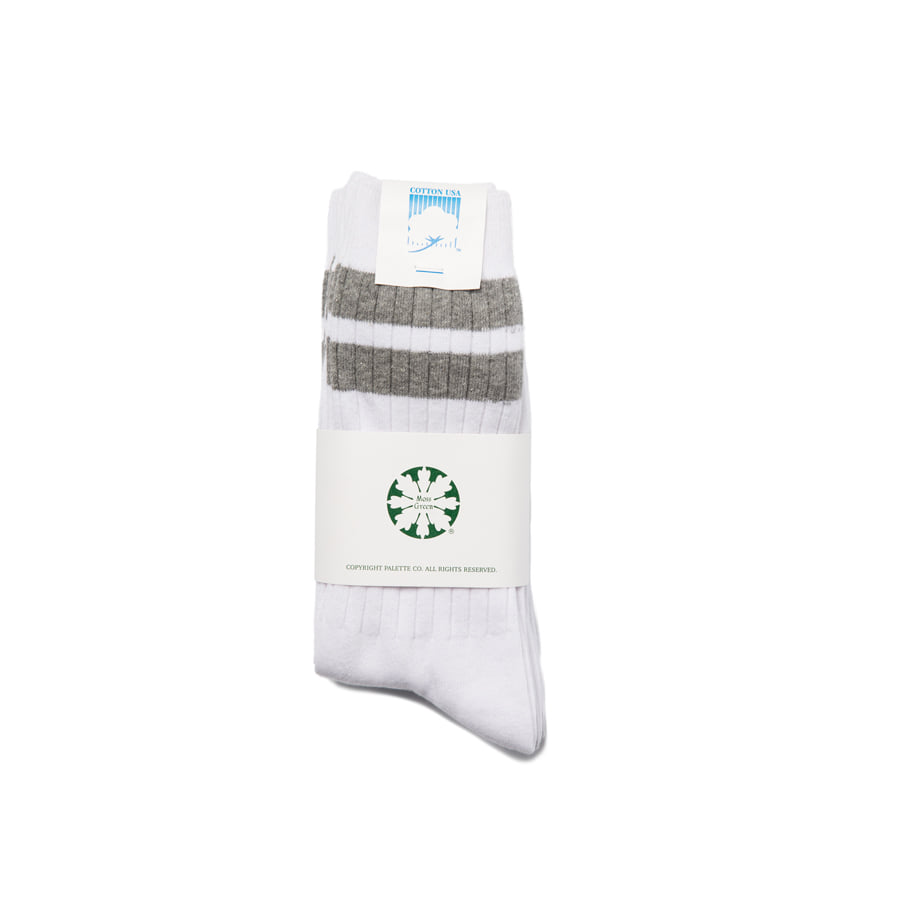 "Stripe Mid Socks 3Pcs ""GREY"""