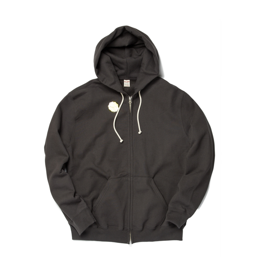 "Sweat Zip Parka ""CHARCOAL"""