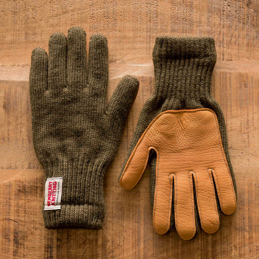 "Lined Leather Palm Glove ""3 COLOR"""