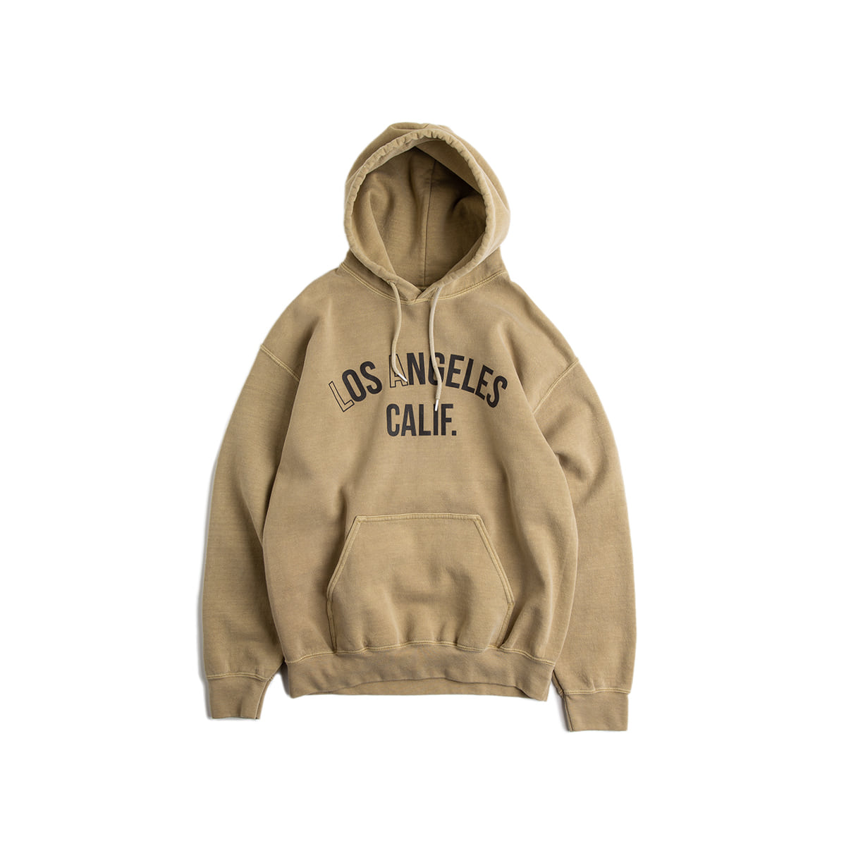 "Los Angeles. California HOODY ""Pigment Mojave Sand"" new 피그먼트 컬러"