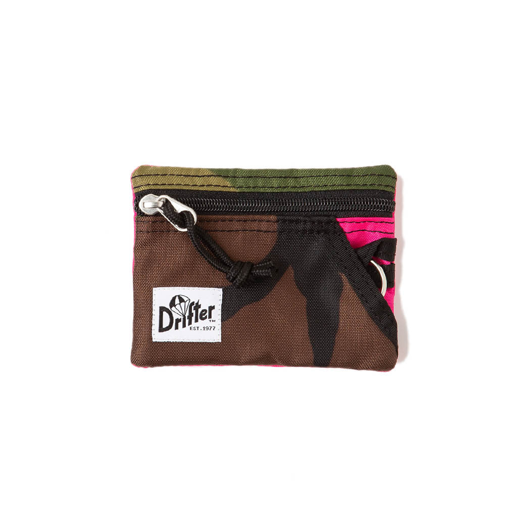 "Key Coin Pouch ""WOODLAND CAMO x PINK"""