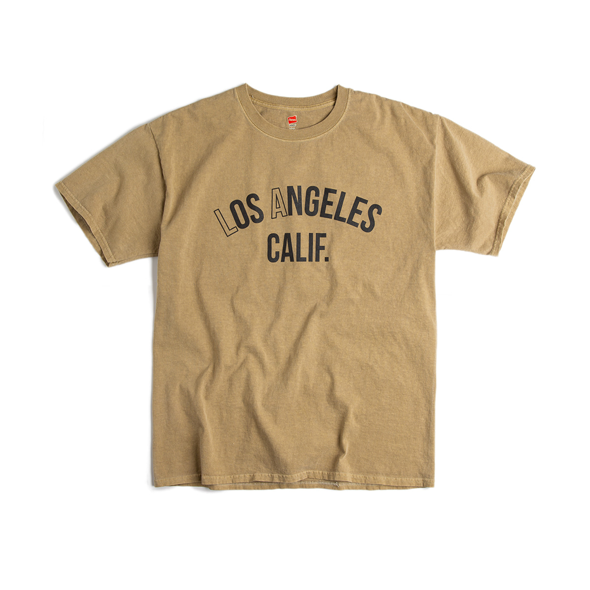 "Los Angeles. California  T-shirt ""Pigment Mojave Sand"" new 피그먼트 컬러"