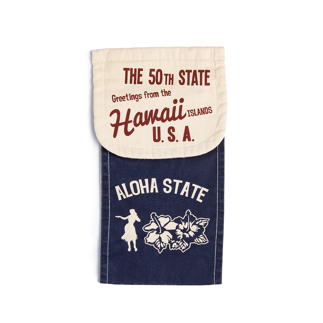 "Hawaiian Design Toilet Paper Holder Cover ""NAVY"""