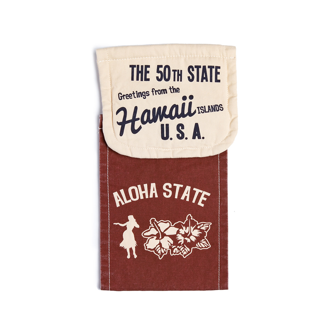 "Hawaiian Design Toilet Paper Holder Cover ""RED"""
