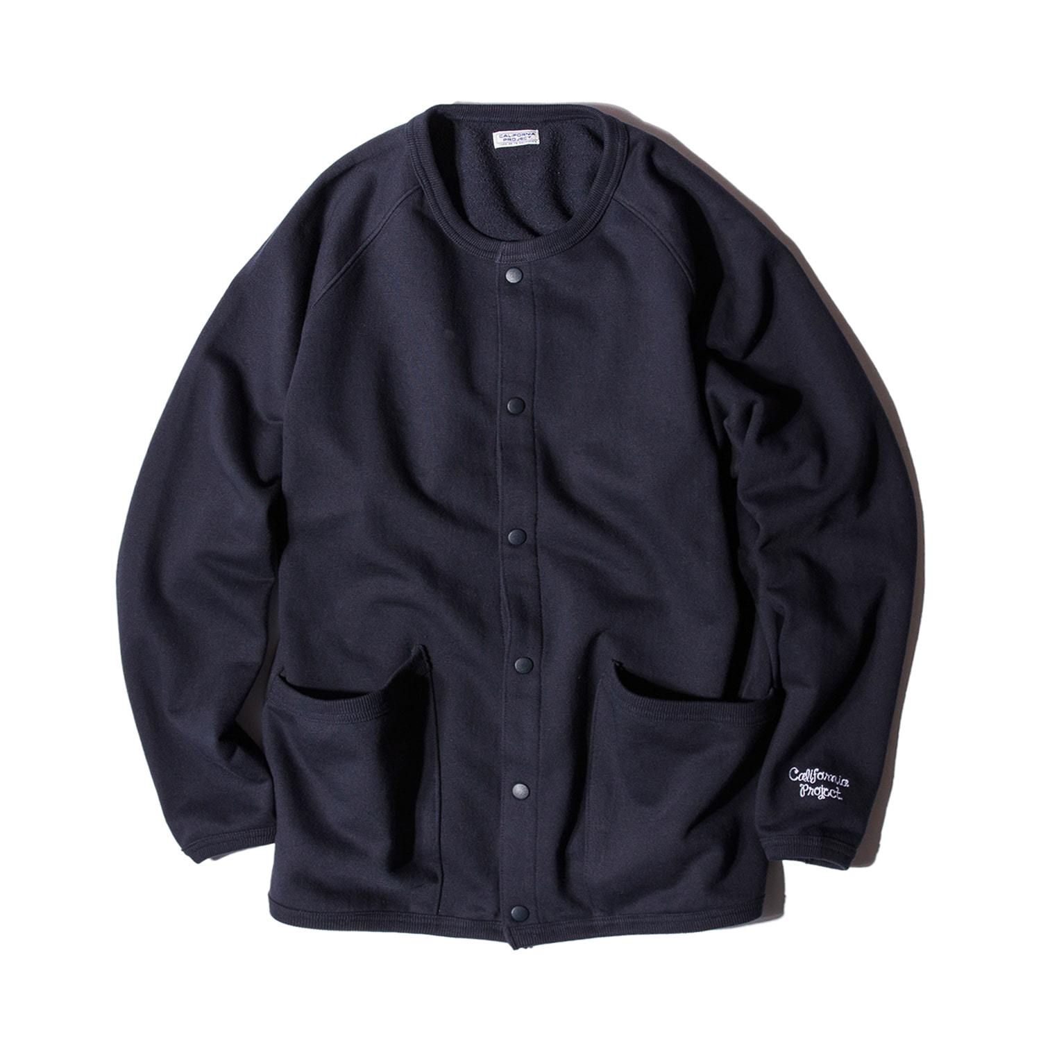 "Crewneck Sweat Cardigan ""NAVY"""