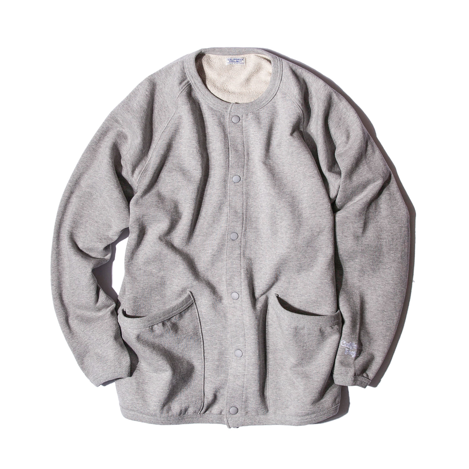 "Crewneck Sweat Cardigan ""GRAY"""