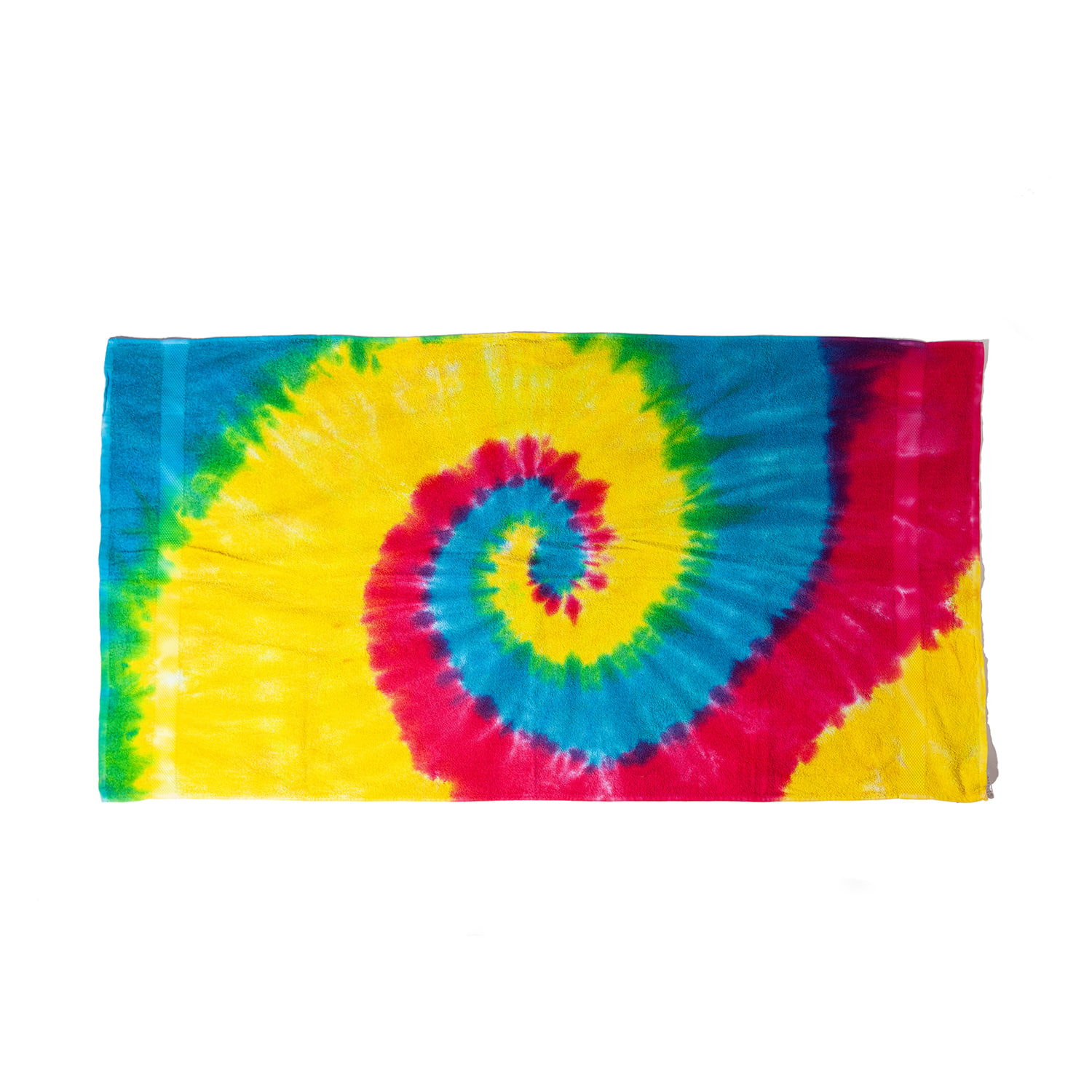 "Tie-Dyed Beach Towel ""REACTIVE RAINBOW"""