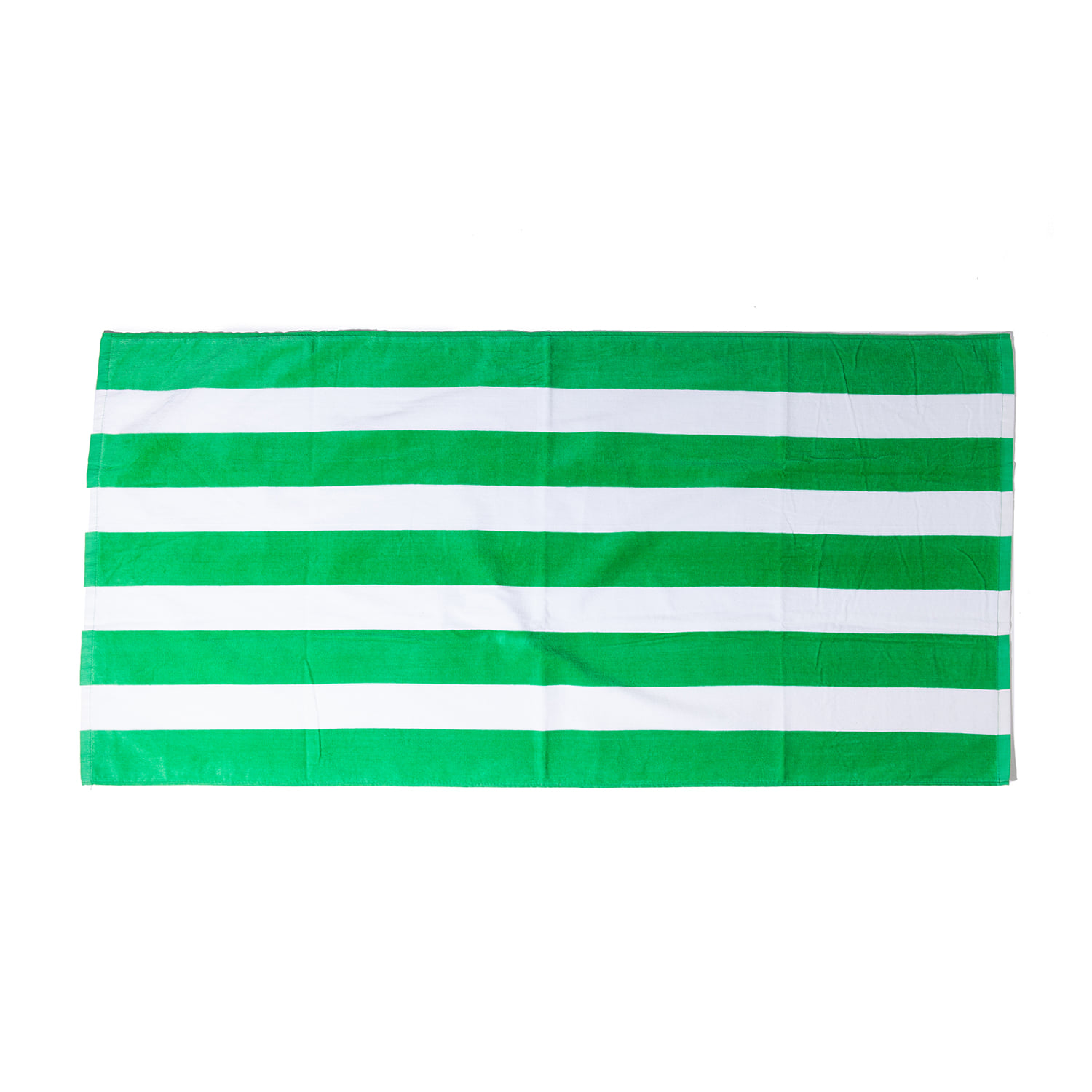 "Cabana Stripe Velour Towel ""KELLY"""