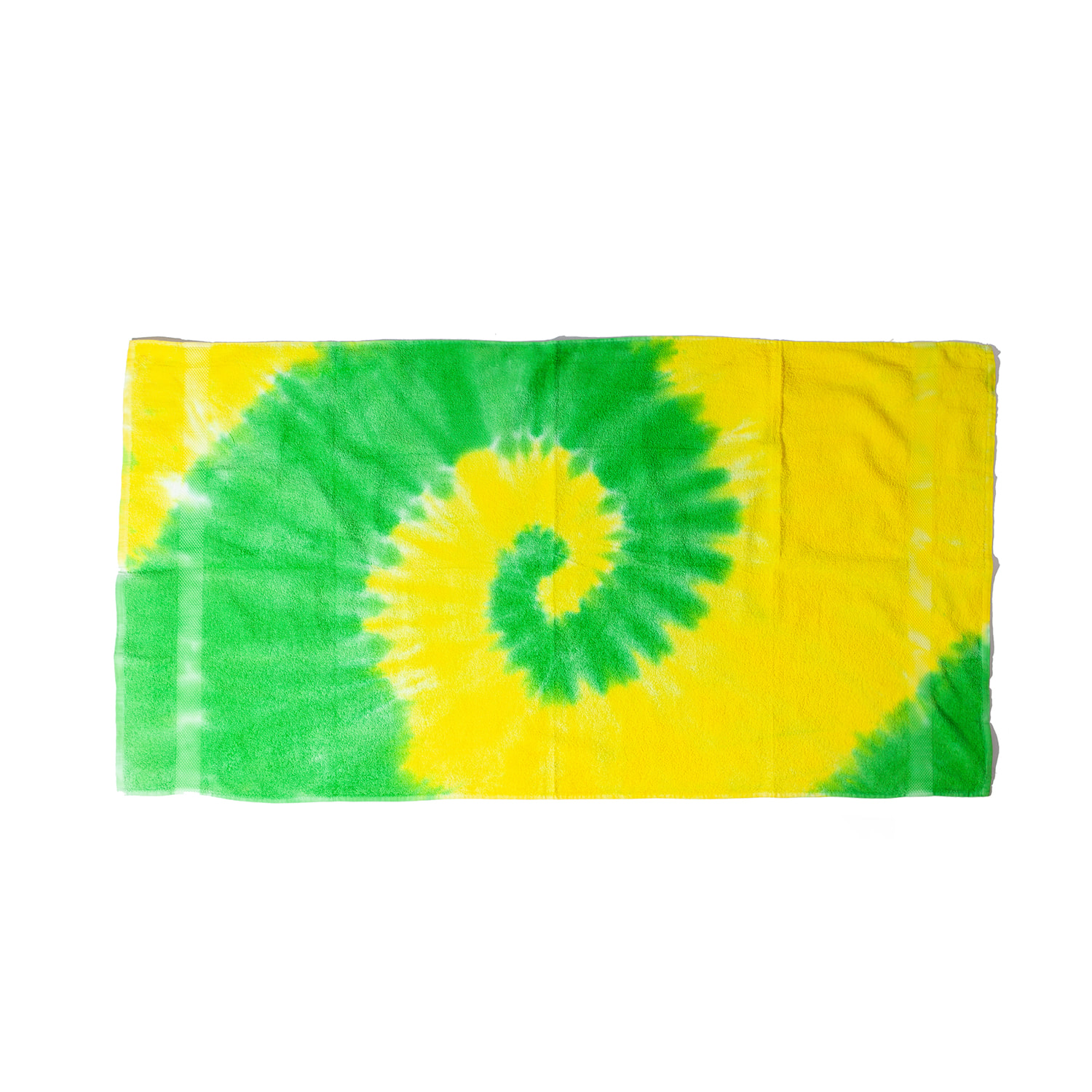 "Tie-Dyed Beach Towel ""SPIRL YELLOW / LIME"""
