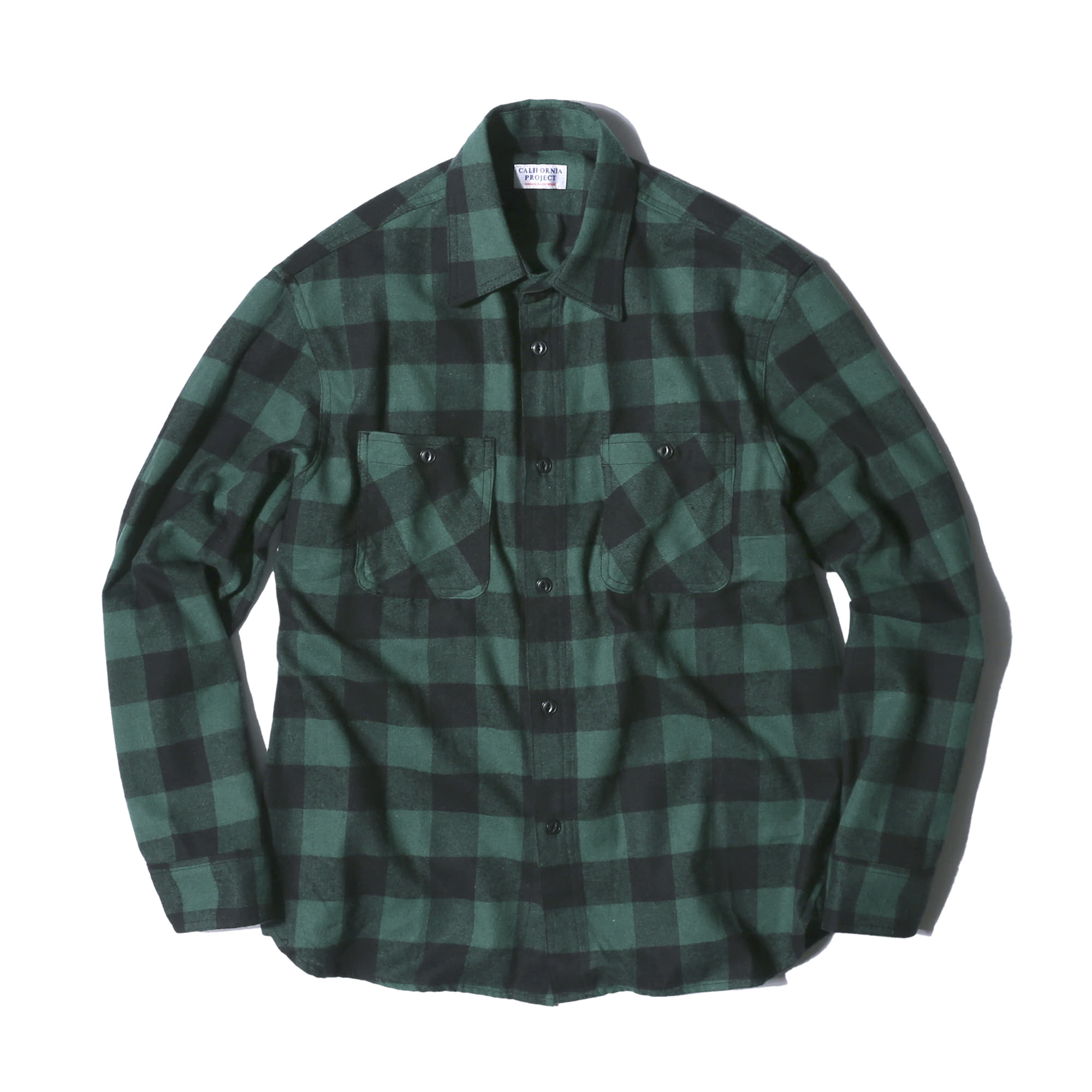 "Flannel Check Shirts ""GREEN"""