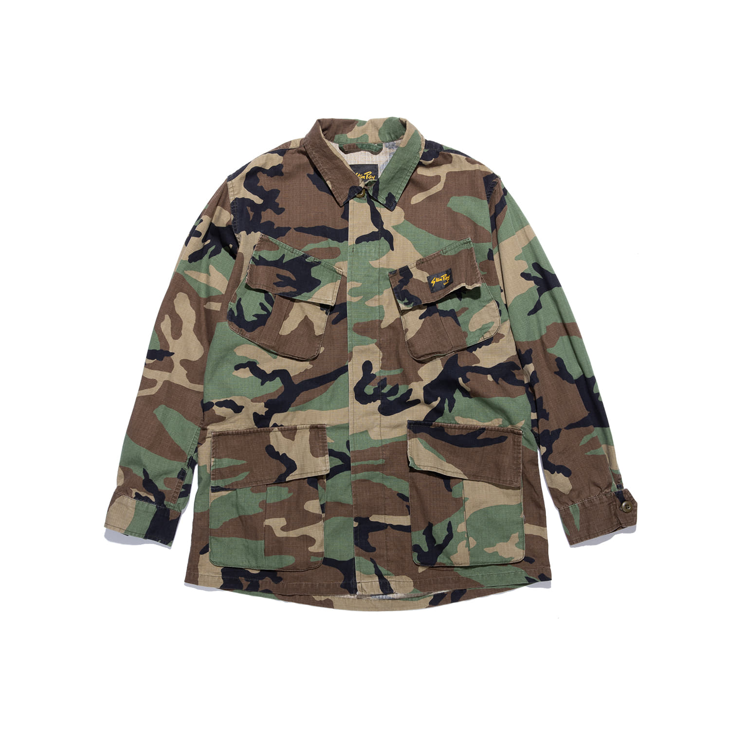 "Stan Ray Tropical Jacket ""STONE WASHED WOODLAND CAMO"""