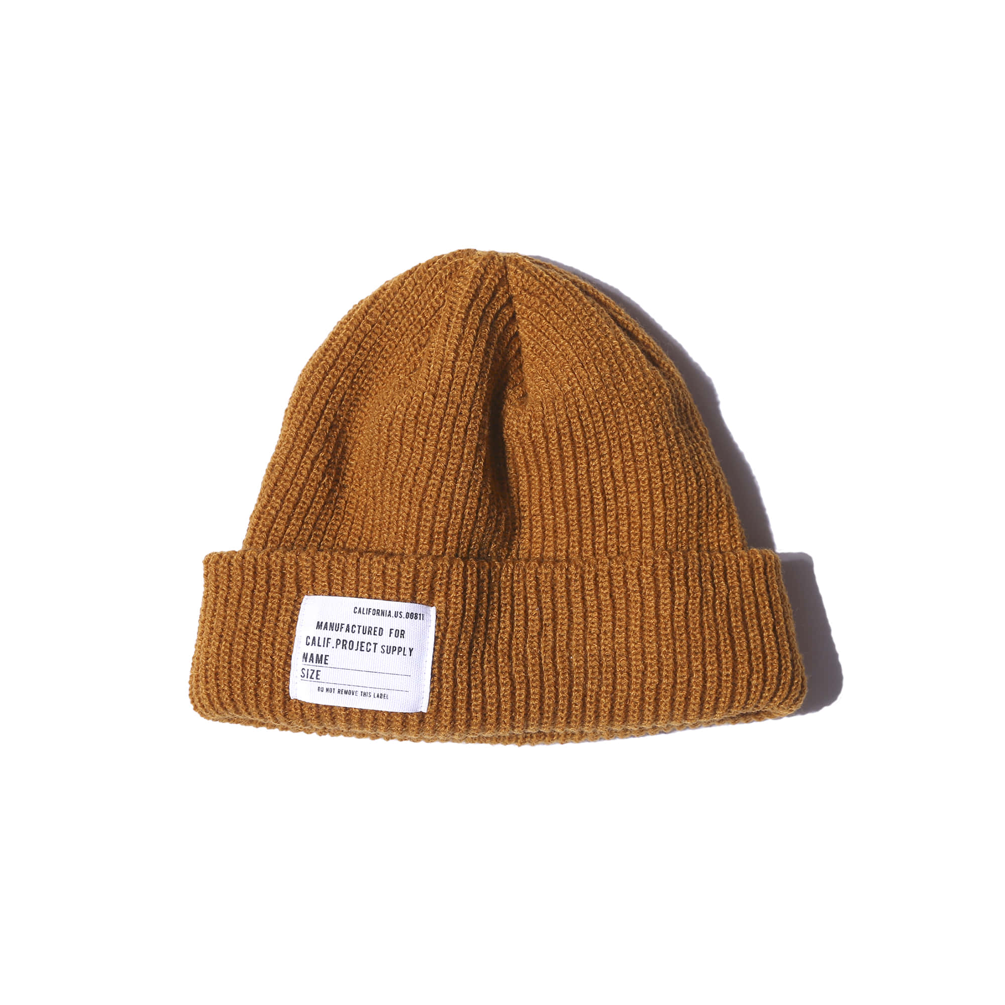 "Military Watch Cap ""MUSTARD"""