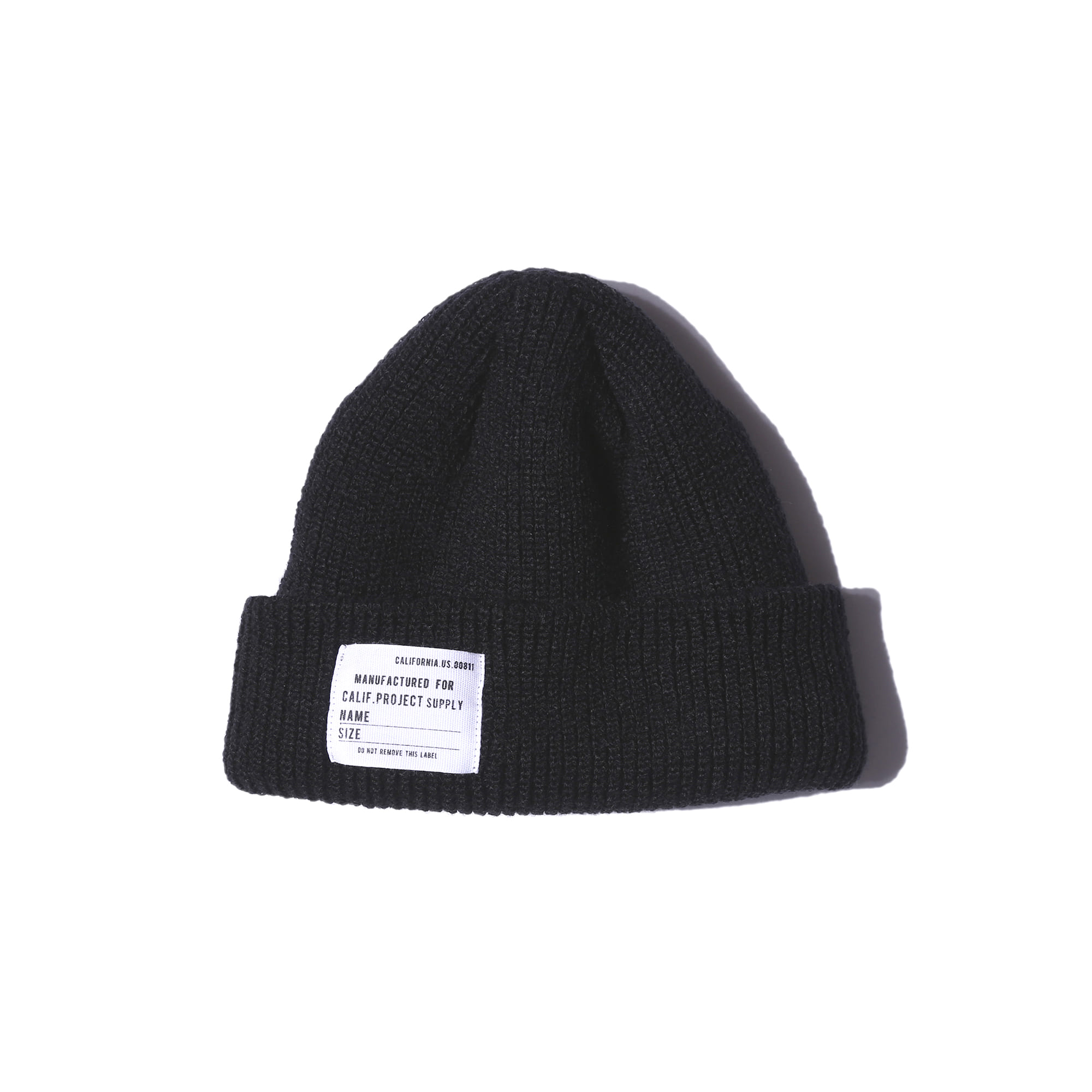 "Military Watch Cap ""BLACK"""
