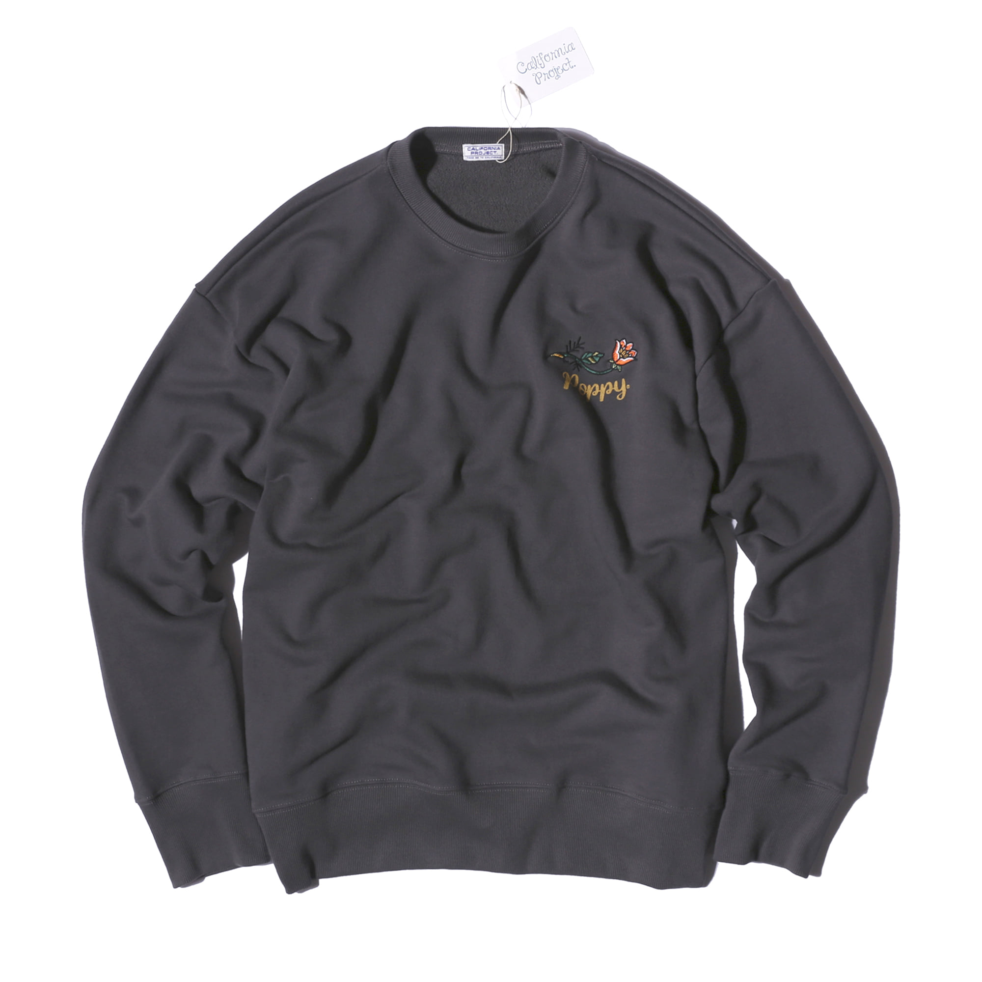 "Poppy Sweatshirts ""CHARCOAL"""